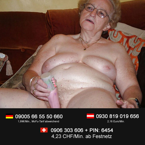 Oma ist bereit für Telefonsex