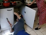 Der Kundendienstmonteur
