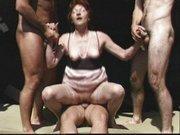 Drei Kerle für sexgeile Oma
