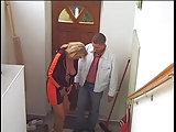 Mit Irena im Treppenhaus