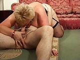 Pornodreh mit dicker Blondine