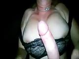 Überreifer Dänin auf die Titten gespritzt