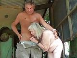 Ficken im Freien mit 72 Jähriger