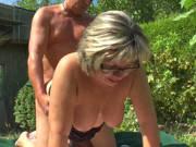 Outdoor Fick mit deutscher Oma